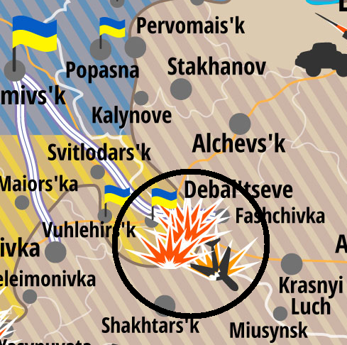 Is The Fall Of Debaltseve Imminent A Threat Assessment - Alchevsk map
